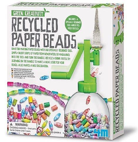《4M美勞創作》創意環保串珠 Recycled Paper Beans ╭★ JOYBUS玩具百貨