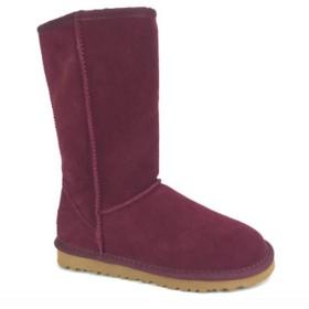 [ヤク] 大きいサイズ 25.0cm コットンブーツ レディース スノーブーツ 雪靴 ハイカット 超軽量 スリッポン 冬用 ラウンドトゥ ロング スキー 普段 日常 23.5cm ウェッジヒール 防寒靴 ワインレッド 綿靴 23.0 24.0 24.5cm ボタン付き