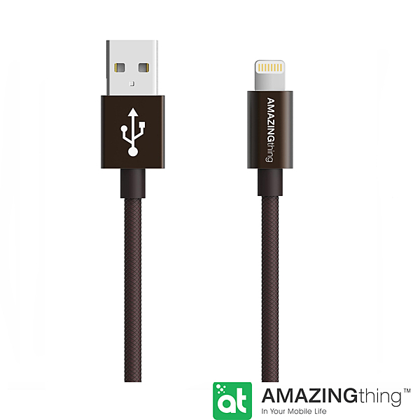 AmazingThing Apple Lightning 原廠認証傳輸線(MFi 認證)(18cm)