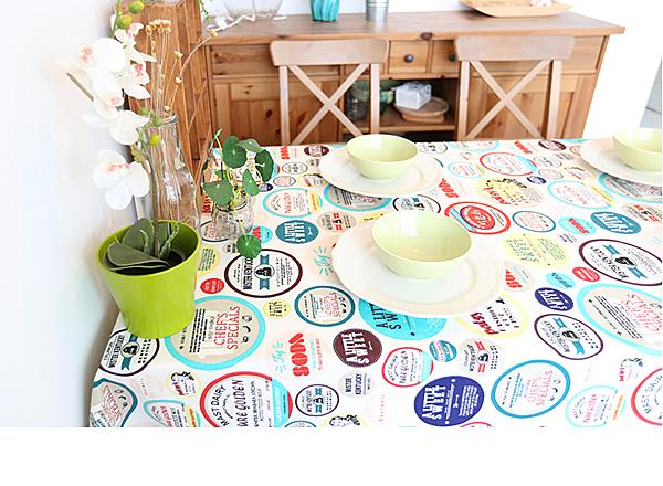 可愛時尚美式棉麻餐桌布 蓋布 台布 (130*180CM)