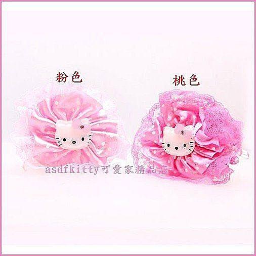 個人【asdfkitty可愛家】kitty蕾絲花朵髮夾/髮飾/鯊魚夾(KL-251)-分售-韓國正版商品