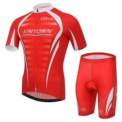 自行車衣-(短袖套裝)-排汗透氣舒適親膚男單車服套裝73er55【時尚巴黎】