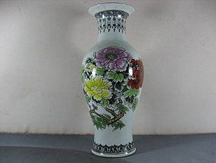 瓷器 陶瓷 鳥語花香 富貴瓶