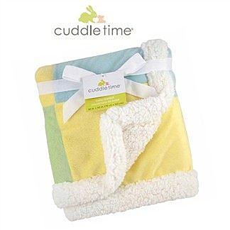 【美國cuddletime】多用途寶寶攜帶毯-粉黃拼貼毯