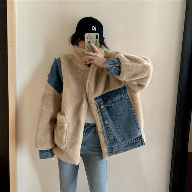 クーポン適用でお得に 韓国ファッション おおきめ オーバーサイズ /ニット/ vVネック 厚手 コート