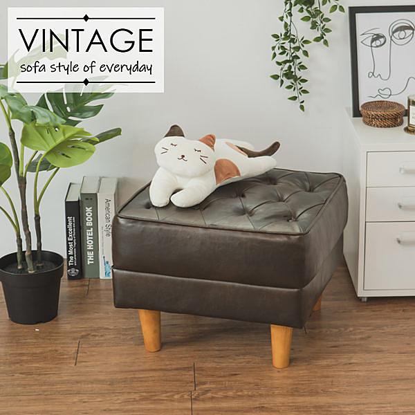沙發 椅子 椅凳【Y0589-A】Vega Queen復古風情皮質椅凳 收納專科