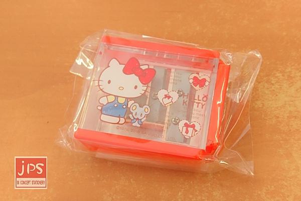 Hello Kitty 凱蒂貓 三孔四方削筆器 禮物 蝴蝶結 紅 KRT-669255