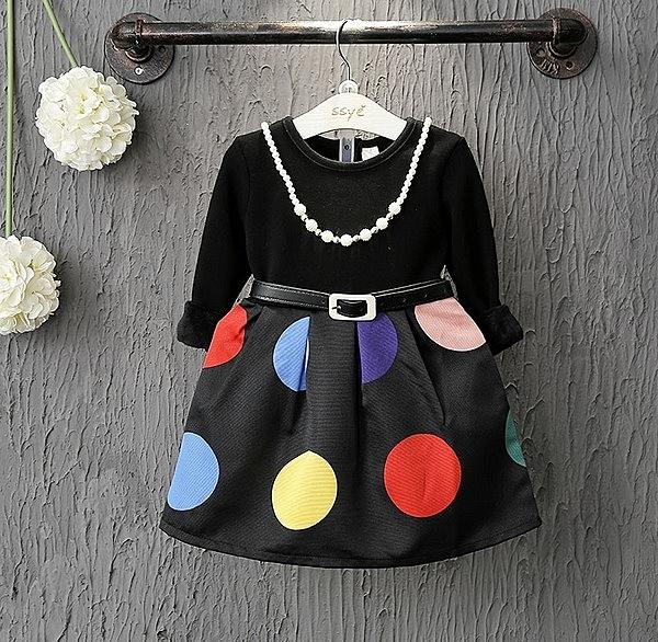 女童長袖洋裝 連身裙 公主裙 小禮服 寶寶童裝 MS19961 好娃娃