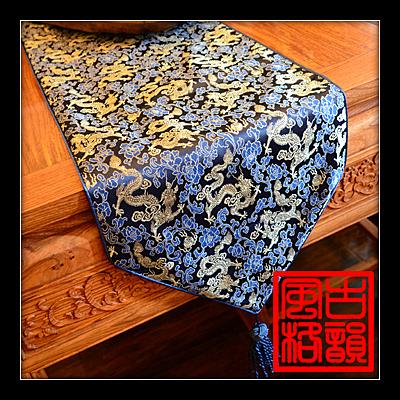 [銀聯網]  絲綢織錦緞餐桌旗加厚可拼花布藝 1入