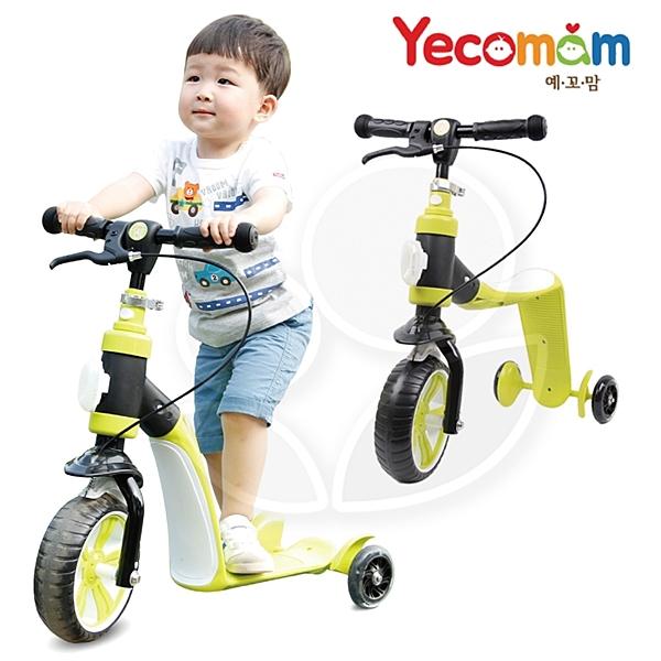 韓國 Yecomam 2in1兒童玩具滑板學步車-綠【佳兒園婦幼館】