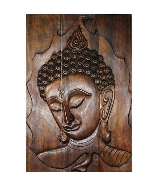 泰式風情 木雕 掛件 浮雕 佛臉