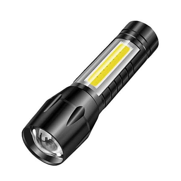 專業變焦強光鋁合金手電筒 USB充電式 工作燈 探照燈 照明燈 手提燈 LED手電筒