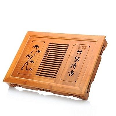 原木茶盤-優質抽屜式竹製茶盤68ac39[時尚巴黎]