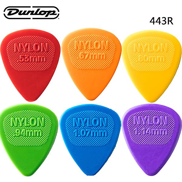 ★Dunlop★ Nylon系列 443R Midi Standard 吉他彈片(72片裝)~6種規格任選