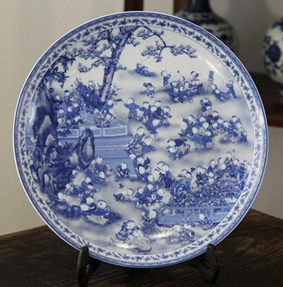 協貿國際陶瓷中式古典青花瓷陶瓷器1入
