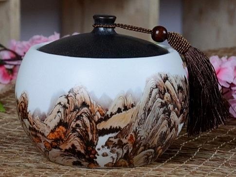 新款悅香陶瓷茶葉罐密封罐