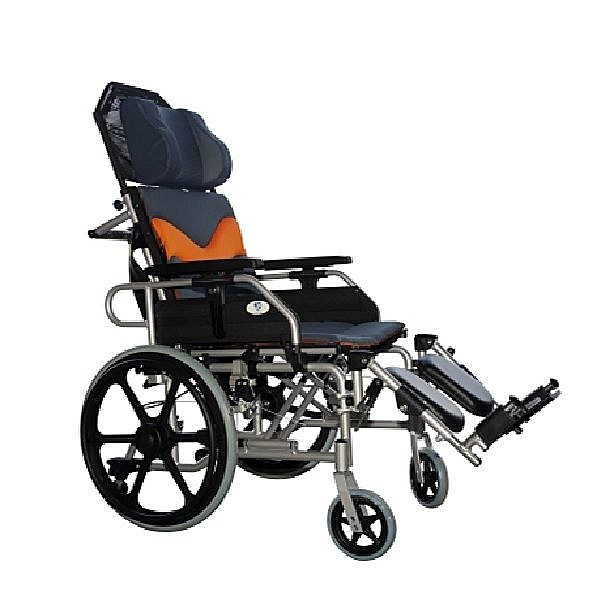 新欣機械式輪椅 (未滅菌)  鋁合金高靠背躺式輪椅