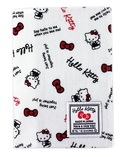 【卡漫城】 Hello Kitty 防水 護照套 滿版白底 ㊣版 日本製 雙面圖 收納本 凱蒂貓 保護套 軟質