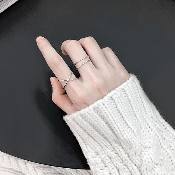 飾悟設計簡約幾何開口戒純銀戒指女日韓潮人學生個性食指戒指環女   新品全館85折