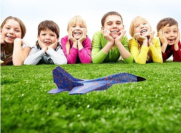 戰鬥機【SG215】手拋飛機 不挑色 特技版手拋飛機泡沫飛機迴旋玩具飛機投擲滑翔機EPP耐摔拼插航模