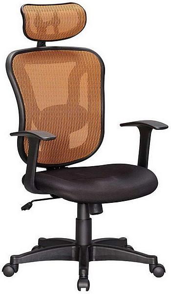 HP358-03 網背椅CS-616A/三明治布墊+橘網