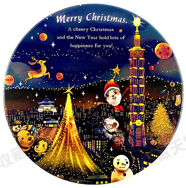 【收藏天地】台灣紀念品*神奇的陶瓷吸水杯墊-台北聖誕城/馬克杯 送禮 文創 風景 觀光  禮品
