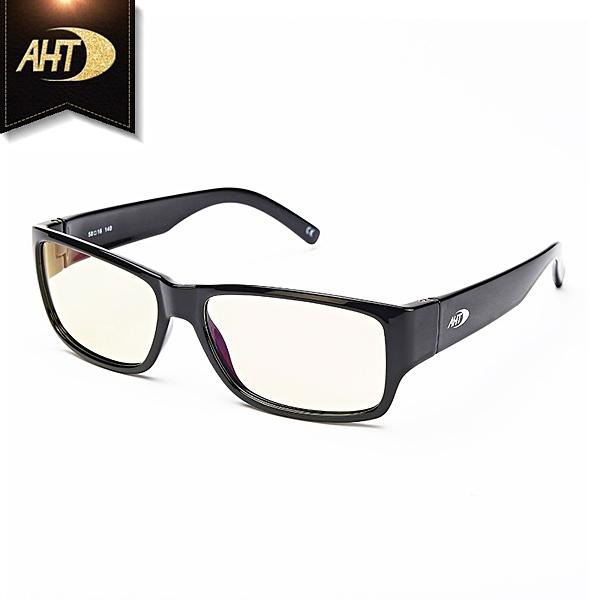 《FUTIS》AHT 抗藍光眼鏡 防輻射 平光眼鏡 電腦眼鏡 經典百搭 AB0001_C1 黑色