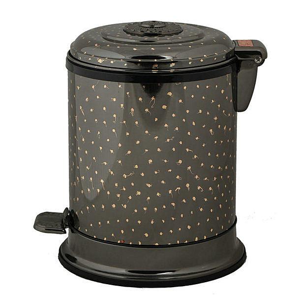 家用腳踏垃圾桶(黑滿天星)
