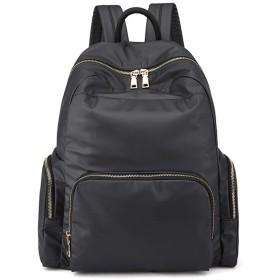 男性の防水バックパック女性オックスフォードバックパック10代の少女のための学校のバッグはショルダーバッグリュックサック、ブラックトラベル