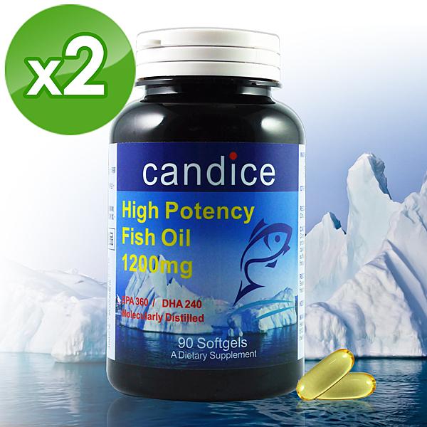 Candice 康迪斯 歐米加600魚油膠囊90顆 2瓶