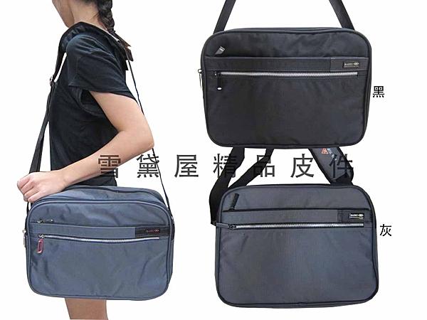 ~雪黛屋~BAIHO 斜側休閒肩側背包防水尼龍布材質台灣製造隨身物品專用包可放A4紙二層主袋 OH270