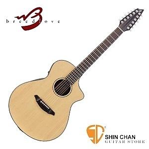 Breedlove 美國品牌手工製 可插電單板 12弦民謠吉他 附原廠硬盒(型號:Atlas Solo C350/SRe-12)