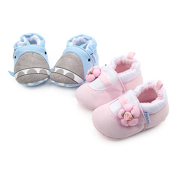 寶寶鞋 學步鞋 立體小花 棉質柔軟 軟底防滑嬰兒鞋 (11-12cm) MIY0710