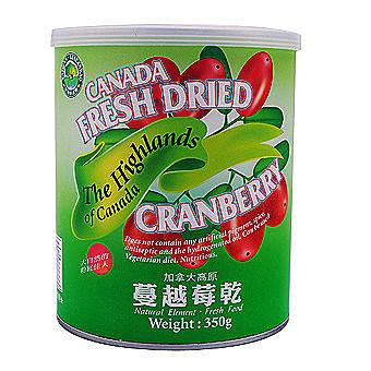 綠源寶~蔓越莓乾350公克/罐