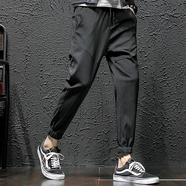 休閒褲男秋季褲子9分寬鬆運動哈倫小腳長褲大碼韓版潮流九分褲 【母親節禮物】