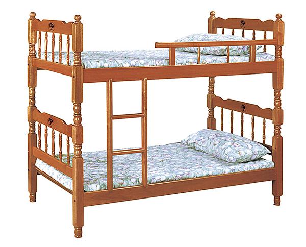 [家事達] 台灣OA-887-1 柚木3尺雙層床 組  特價 限送中部