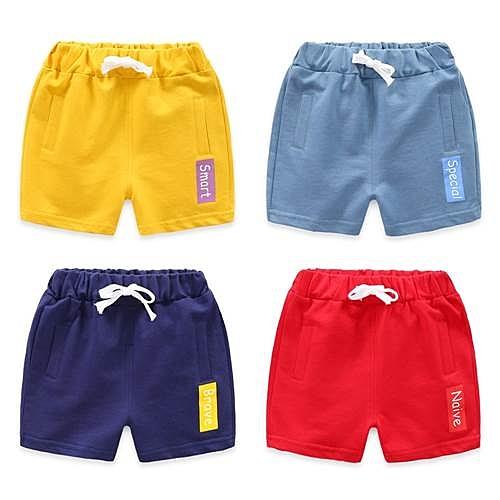 兒童短褲 夏季男童純棉五分褲