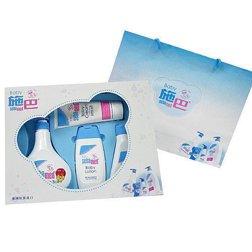 【奇買親子購物網】施巴 Sebamed 嬰兒粉藍熊語禮盒 (彌月禮盒)