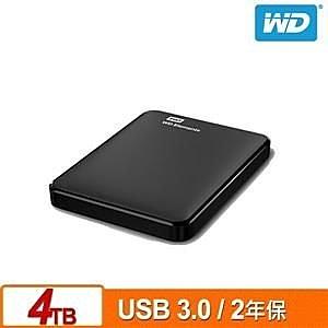 全新 WD Elements 4TB 2.5吋行動硬碟(WESN) 公司貨