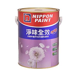 立邦淨味全效乳膠漆淺百合白5L