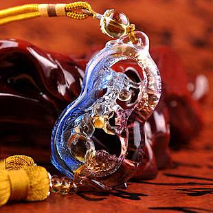 福祿雙喜琉璃掛件商務創意實用禮品時尚汽車裝飾品掛商務禮物