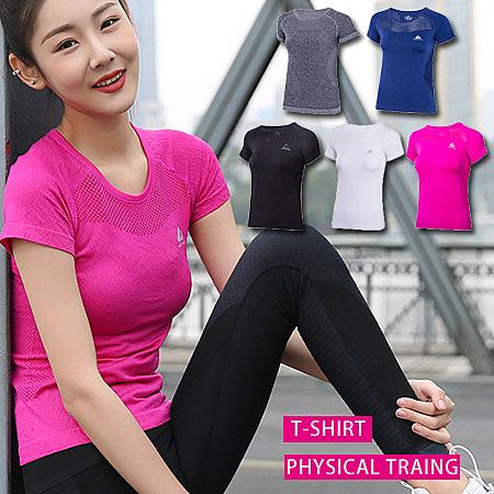 鏤空吸濕速乾瑜伽上衣/短袖T恤/運動短T/健身上衣 4色 S-L碼【PS61130】