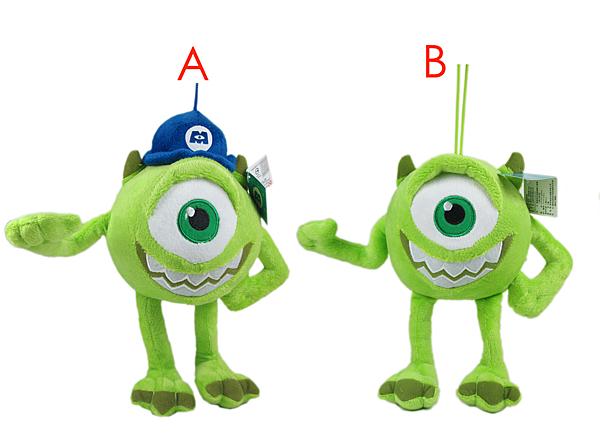 【卡漫城】 大眼仔 玩偶 22cm 二款選一 ㊣版 絨毛 娃娃 怪獸大學 mike 怪獸電力公司 MU 吊飾 掛飾