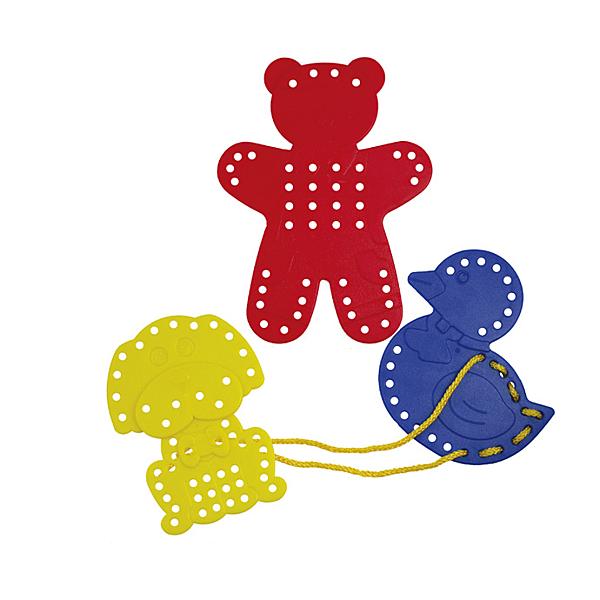 【華森葳兒童教玩具】建構積木系列-動物穿線板 E10-L15