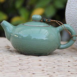 龍泉青瓷茶壺贈送手抓陶瓷過濾網壺