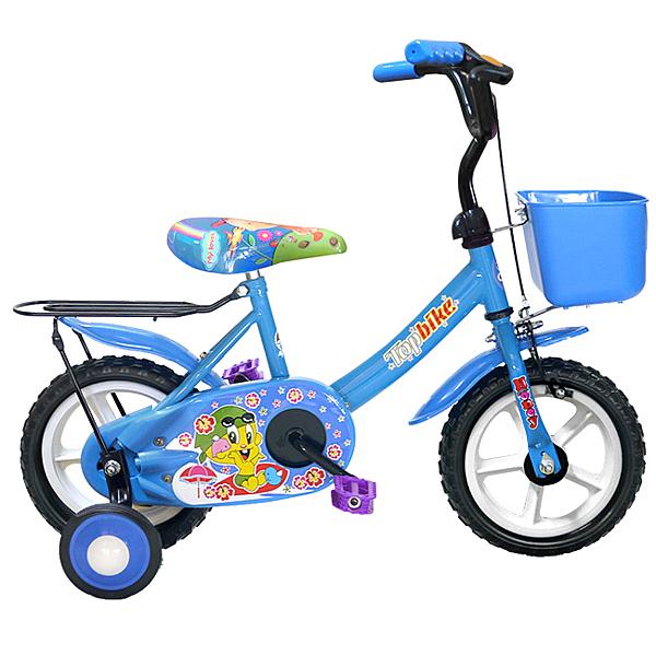 【Adagio】12吋酷寶貝童車附置物籃(藍)~台灣製造(ME0048B)