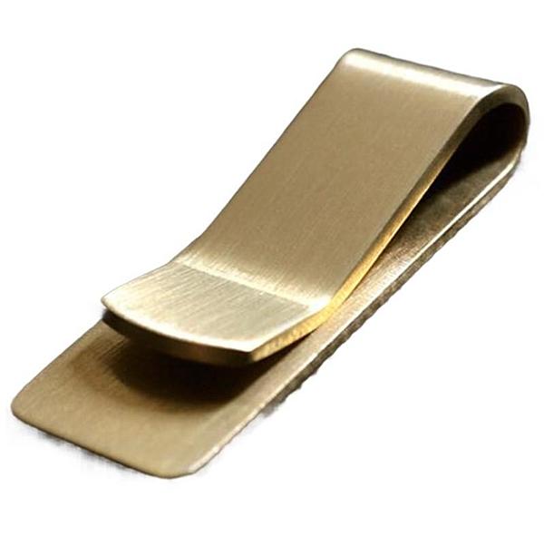 黃銅錢夾SG532 加厚款復古 男女士金屬鈔票零錢票據夾 EDC工具
