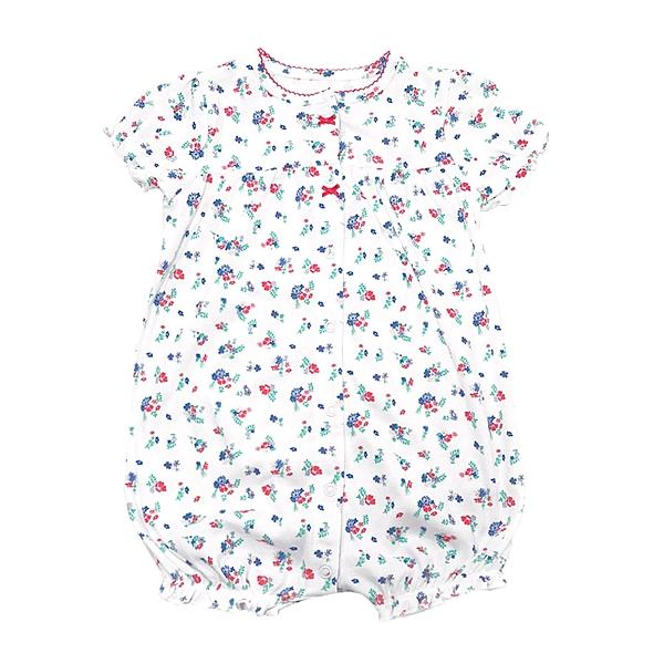 女寶寶短袖兔裝 純棉前開扣連身衣 白花花   Carter s卡特童裝 (嬰幼兒/新生兒/baby/兒童)