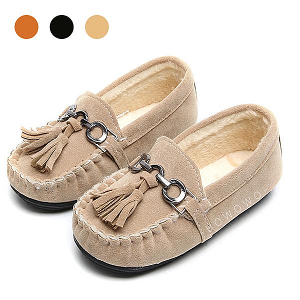 娃娃鞋 流蘇保暖童鞋 女寶寶學步鞋 休閒鞋 (13-15cm) KL07 好娃娃