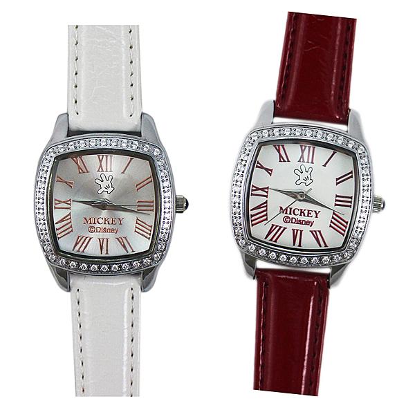【卡漫城】 米奇 水鑽 手錶 2選1 ㊣版 Mickey 米老鼠 復古設計 女性 女錶 卡通錶 原價2180 六折出清
